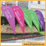 Bandeira do Teardrop da impressão de Digitas da câmara de ar da fibra de vidro para anunciar