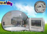 tenda trasparente gonfiabile della bolla con il tubo gonfiabile per esterno