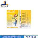 Tarjeta elegante de la pantalla de seda RFID del papel revestido para los boletos del recorrido