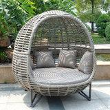 Софа ротанга самомоднейшего стула Lounger мебели отдыха алюминиевого Wicker плоская (J835)