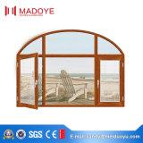 2016 Ventana abatible de aluminio de doble vidrio de diseño clásico hecho en China