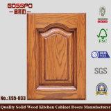 Portes en bois solides de compartiment neuf de cuisine (GSP5-002)