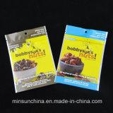 Kundenspezifischer Aluminiumfolie-mit Reißverschluss Fastfood- Nahrungsmittelimbiss-Verpackungs-Beutel