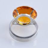 кольцо держателя салфетки диаманта цвета малого размера 50mm янтарное