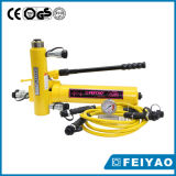 Cilindro hidráulico de duas vias e cilindros híbridos cilíndricos