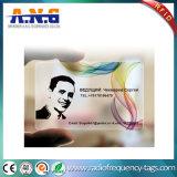 Biglietti da visita trasparenti su ordinazione liberi del PVC delle schede stampate