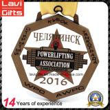 Medalla de fábrica de la aleación de zinc de encargo con la forma grande