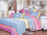 Microfiber 보통 염색된 최고 침대 시트 고정되는 침구 세트