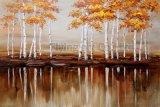 Pintura al óleo para el árbol del otoño