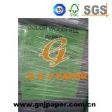 Papel sem revestimento da cor do tamanho da polpa de madeira 635*902mm para a impressão