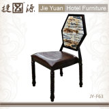 Metall, das Gaststätte-Stuhl mit sechseckigem Gegenständer (JY-F63, stapelt)