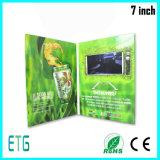 "карточка 7 "" LCD видео- для промотирования дела"