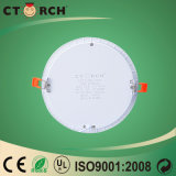 Luz del panel ultra fina del redondo 18W LED del aluminio de Ctorch con la aprobación del Ce