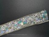 Maglia di cristallo dei Rhinestones della maglia di Strass dello strato di scambio di calore della colla della protezione (TS-046)