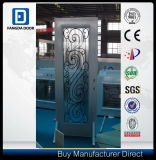 Porte en acier de douche en verre de Fangda, avec la glace décorative de fer travaillé