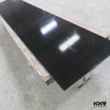 Feuilles extérieures solides acryliques de brames en pierre artificielles noires pures