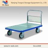 Caminhão de mão Foldable da plataforma do metal da Tr-Cremalheira