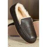 Zapatos ocasionales del mocasín de la zalea del cuero genuino para los hombres