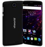"""元のVkworld T6 6.0 """" 4G Phabletのアンドロイド5.1の2GB RAM 16GB ROM Mtk6735 64bitのクォードのコア1.0GHz 13.0MP主要なカメラOTG Hotknotのスマートな電話黒"""