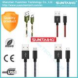 De nylon Micro- USB van de Stof Kabel vlechtte de Kabel van 3 Duim USB