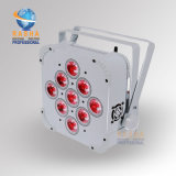 La PARITÉ mince sans fil UV d'IRC DEL du fournisseur 9PCS*15W 5in1 Rgabw de lumière d'étape de la Chine peut avec la batterie pour la barre de club de disco
