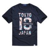 Les hommes d'usine ont estampé des T-shirts de mode de coton de T-shirts
