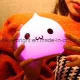 Beaux silicones d'enfants peu de lumière de nuit, mini lumière de nuit de charge colorée portative d'USB