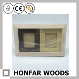 Cornice di legno diritta di legno bianca del doppio blocco per grafici di struttura