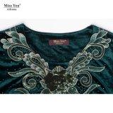 Vestido de uma peça só personalizado forma da luva longa da senhorita Você Ailinna 305446