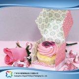 Caixa de empacotamento de papel do cartão customizável para o bolo do alimento (xc-fbk-034)