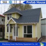 Casa móvel Prefab moderna com construção de aço clara