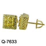 Oorringen van de Juwelen van de Manier van de fabriek de In het groot 925 Zilveren voor de Mens