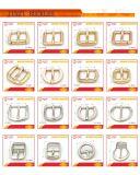 Curva oval de luxo Broche de cinto único para bolsas