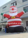 Santa gonfiabile gigante esterna personalizzata per Buon Natale