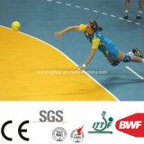 법원 4.5mm가 테니스 농구를 위한 주황색 실내 미끄럼 방지 PVC 마루에 의하여