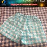 Il nylon/poliestere ha mescolato il tessuto tinto filato, tessuto di Shorts della spiaggia dell'assegno della piega (YD1122-Blue)