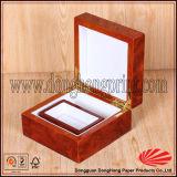 Прикрепленная на петлях коробка вахты MDF черноты квадрата крышки отлакированная цветом деревянная