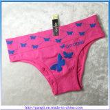 卸し売りOEMの美しい蝶プリント方法下着の女性のパンティー