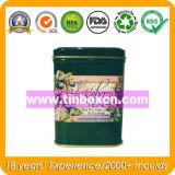 Contenitore rettangolare del tè del metallo con il commestibile
