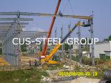 Изготовленный светлый сарай стальной структуры завода по изготовлению стали полуфабрикат