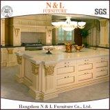 Gabinete de cozinha moderno da madeira contínua da mobília da HOME do estilo de N&L
