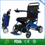 Alumínio de pouco peso esperto que dobra a cadeira de rodas da energia eléctrica