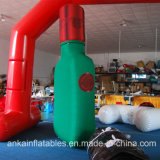 Botella de vino inflable gigante modificada para requisitos particulares económica y popular