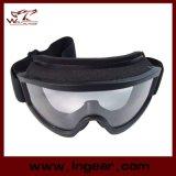 Lunettes de soleil tactiques de compatibilité et de sport de casque de lunettes de SWAT de X.500 d'Airsoft