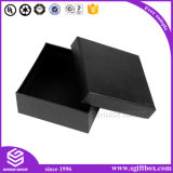 Rectángulo de joyería de empaquetado de papel del negro del regalo de buena calidad
