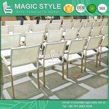 Dublin Dining Set Cadeira de alumínio Cadeira de jantar Mesa rectangular Mobiliário de exterior Cadeira à prova d'água (MAGIC STYLE)
