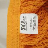 Mehrfachverwendbare Baumwollzeichenkette-faltbare Baumwollnettobeutel