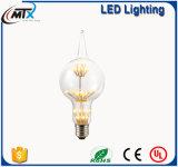 O fio do diodo emissor de luz ilumina o bulbo energy-saving da vela do filamento do diodo emissor de luz da fábrica ST64 E27 4W
