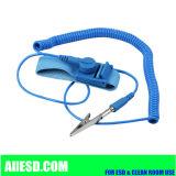 Anti courroie de poignet en nylon statique bleue de câble