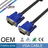 Le VGA 15pin coaxial à grande vitesse de Sipu au câble de moniteur VGA